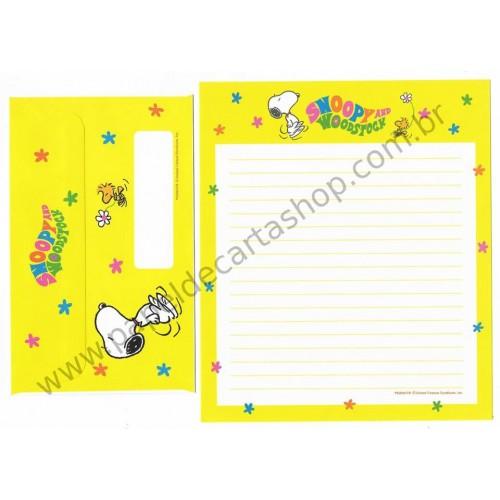 Conjunto de Papel de Carta Antigo (VIntage) Snoopy & Woodstock 70s CAM 2F