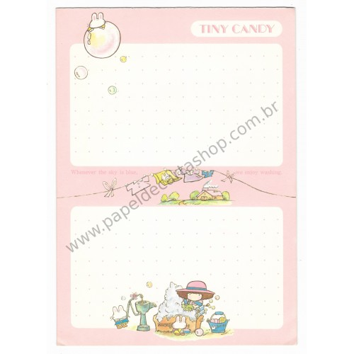 Papel de Carta Avulso Vintage Tiny Candy Milk Candy Gakken