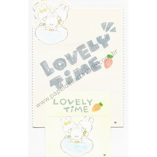 Conjunto de Papel de Carta Antigo (Vintage) Lovely Time