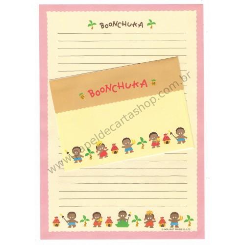 Ano 1987. Conjunto de Papel de Carta Vintage Boonchuka Sanrio