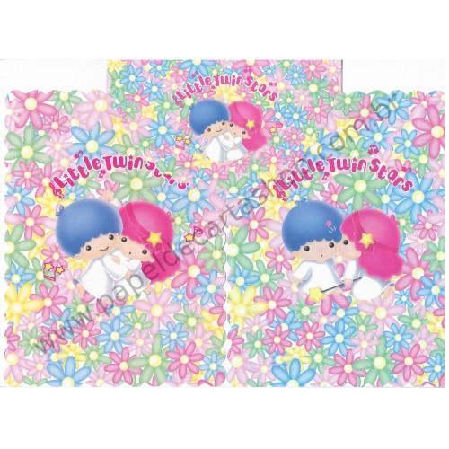 Ano 1998. Conjunto de Papel de Carta Little Twin Stars DUPLA Vintage Sanrio