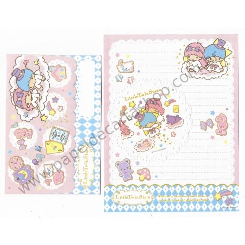 Ano 2011. Conjunto de Papel de Carta Little Twin Stars Sweet Saloon Sanrio
