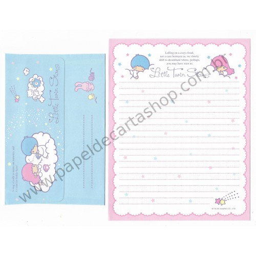 Ano 2005. Conjunto de Papel de Carta Little Twin Stars Sanrio