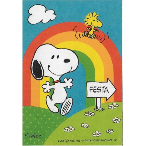 Cartão ANTIGO Importado Snoopy Thank You (CRM) - Hallmark Cards