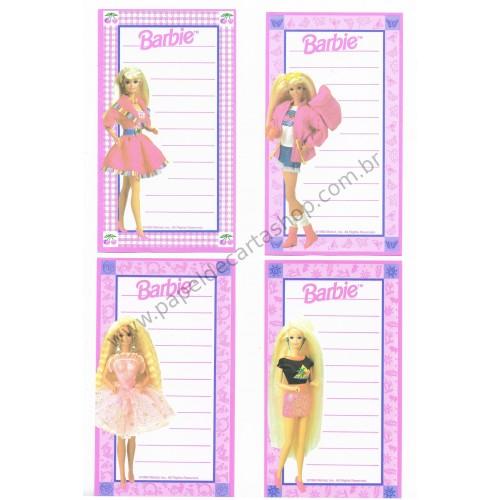 Ano 1993. Kit 4 Notas Importadas Barbie MI