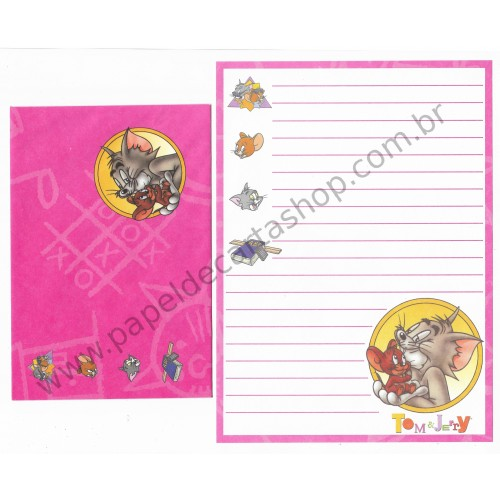 Ano 1992. Conjunto de Papel de Carta Importado Tom & Jerry CRS