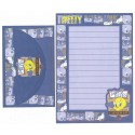 Conjunto de Papel de Carta ANTIGO Tweety Blues Looney Tunes