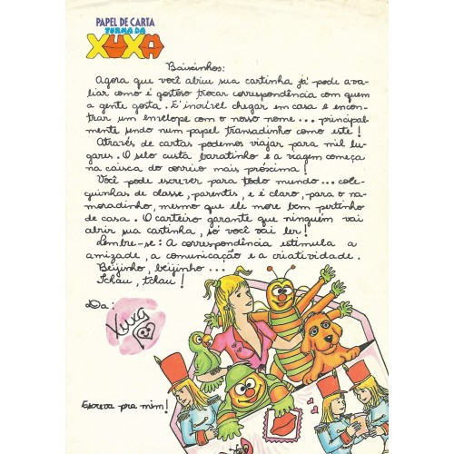 Papel de Carta Turma da Xuxa 02