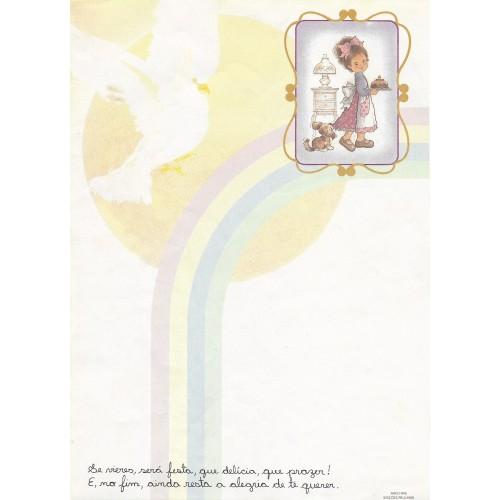 Papel de Carta Arco Iris 03