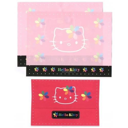 Ano 1999. Conjunto de Papel de Carta Hello Kitty Colors CRS Antigo (Vintage) Sanrio