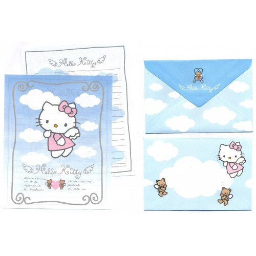 Ano 1997. Conjunto de Papel de Carta Hello Kitty Angel (Vintage) Sanrio