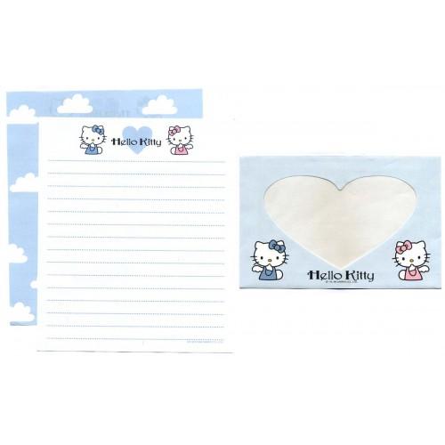 Ano 1998. Conjunto de Papel de Carta Hello Kitty Window Vintage Sanrio