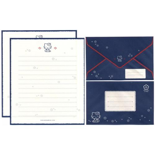 Ano 1998. Conjunto de Papel de Carta Hello Kitty CAZ Antigo (Vintage) Sanrio