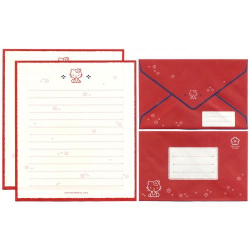 Ano 1998. Conjunto de Papel de Carta Hello Kitty CVM Antigo (Vintage) Sanrio