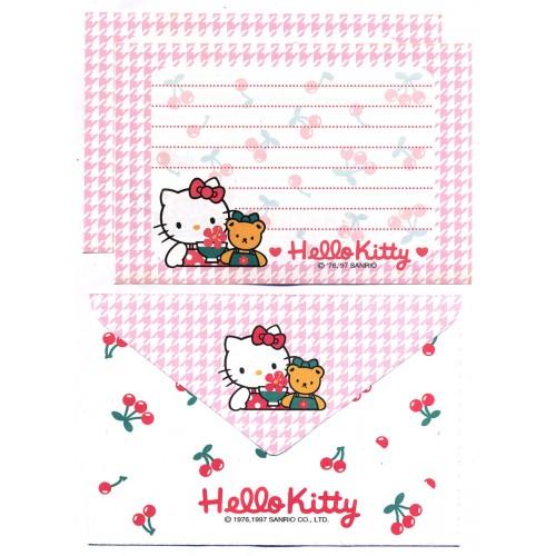 Ano 1997. Conjunto de Papel de Carta Hello Kitty Cherry P Antigo (Vintage) Sanrio