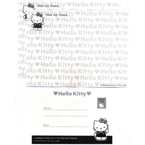 Ano 1996. Conjunto de Papel de Carta Hello Kitty Free Antigo (Vintage) Sanrio