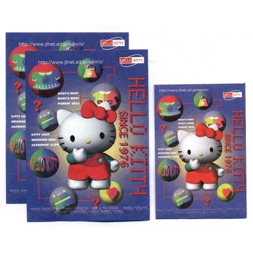 Ano 1997. Conjunto de Mini Papel de Carta Hello Kitty JTNET Antigo (Vintage) Sanrio