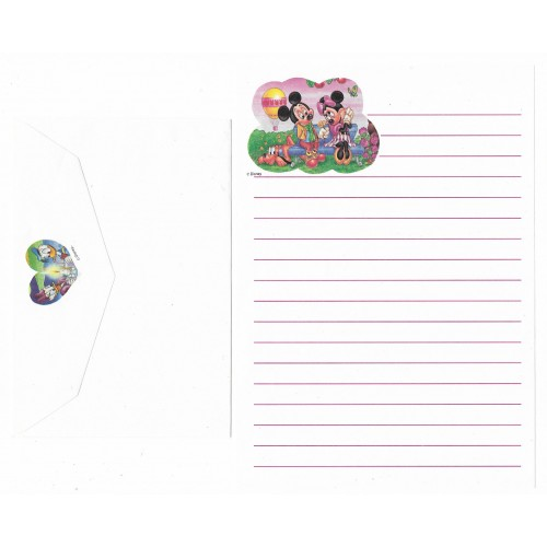 Conjunto de Papel de Carta ANTIGO Personagens Disney CBR