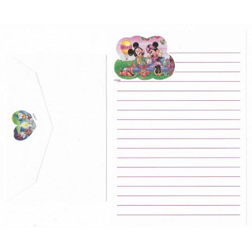 Conjunto de Papel de Carta ANTIGO Personagens Disney CBR