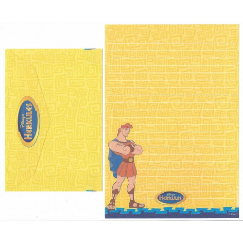 Conjunto de Papel de Carta ANTIGO Personagens Disney Hercules CAM