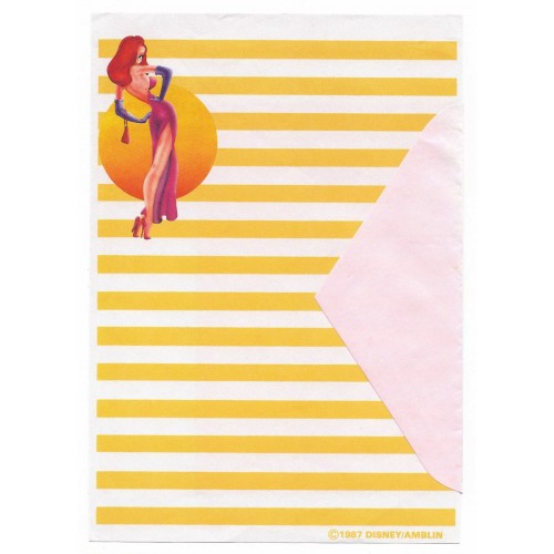Conjunto de Papel de Carta ANTIGO Personagens Disney Jessica Rabbit