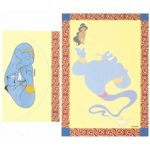 Conjunto de Papel de Carta ANTIGO Personagens Disney Aladdin CAM