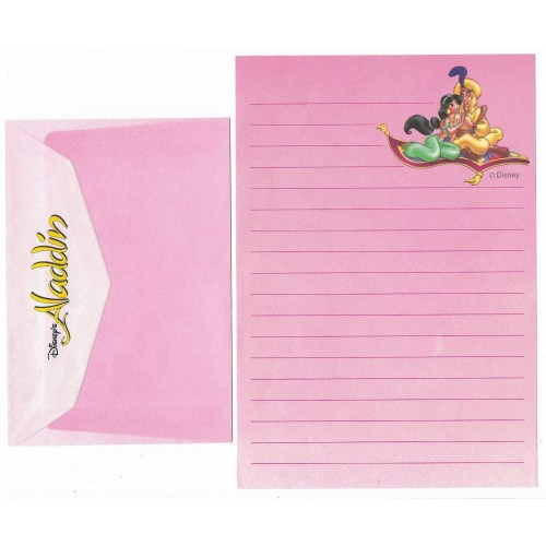 Conjunto de Papel de Carta ANTIGO Personagens Disney Aladdin CRS