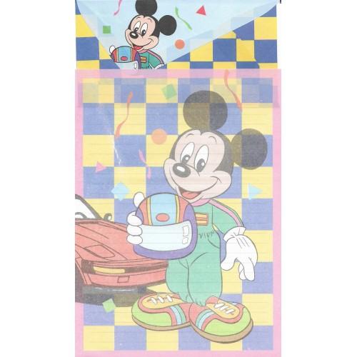 Conjunto de Papel de Carta Antigo Importado Disney Mickey LP0404