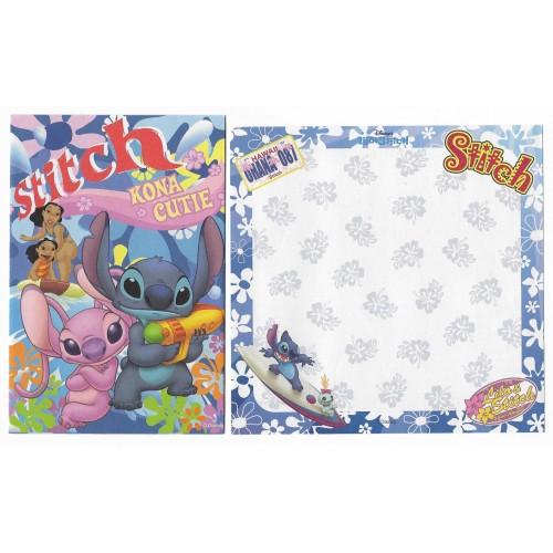 Kit 4 Conjuntos de Papel de Carta Disney Stitch Kona Cutie