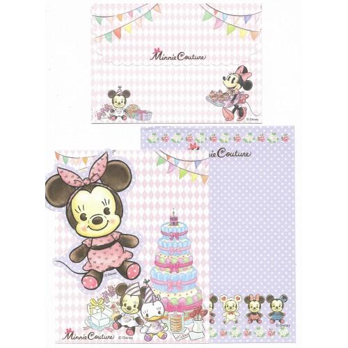 Conjunto de Papel de Carta Disney Minnie Couture Happy Birthday II