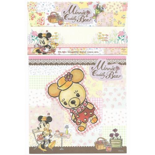 Conjunto de Papel de Carta Antigo Vintage Disney Minnie & Cuddly Bear