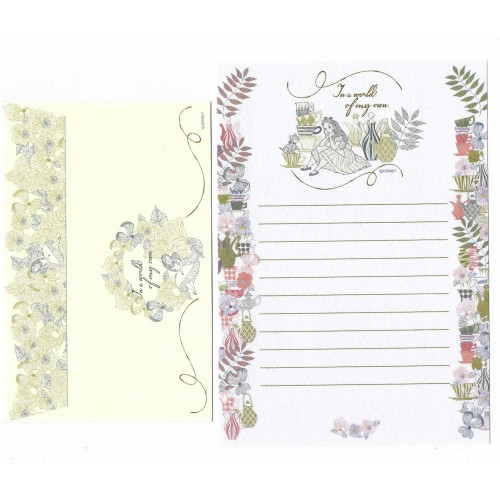 Conjunto de Papel de Carta Vintage Alice in the World on my Own