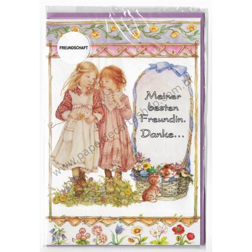 Notecard com Envelope Importado Lisi Martin - Freundschaft 01