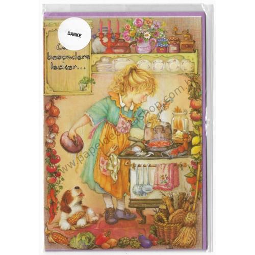 Notecard com Envelope Importado Lisi Martin - Danke 01