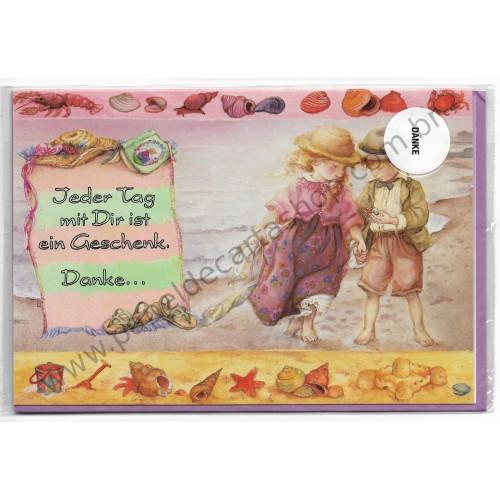 Notecard com Envelope Importado Lisi Martin - Danke 02