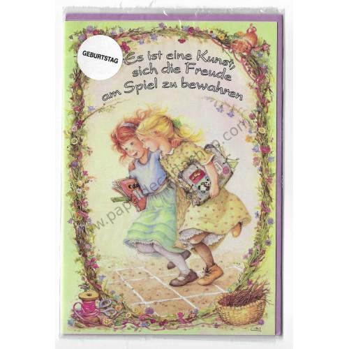 Notecard com Envelope Importado Lisi Martin - Geburtstag 05