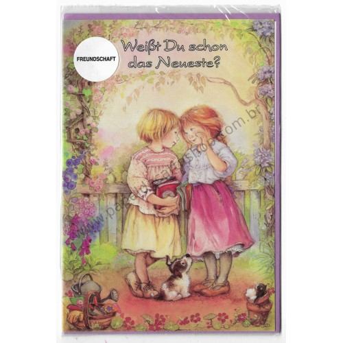 Notecard com Envelope Importado Lisi Martin - Freundschaft 08
