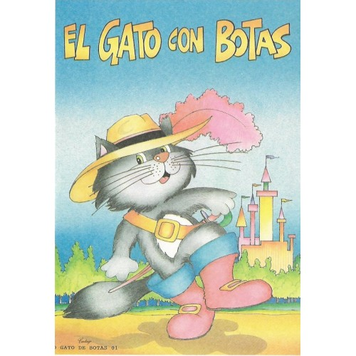 Papel de Carta CARTIUGE Personagens O Gato de Botas 01