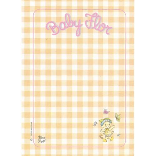 Papel de Carta AVULSO Coleção Palacio's Line Baby Flor E