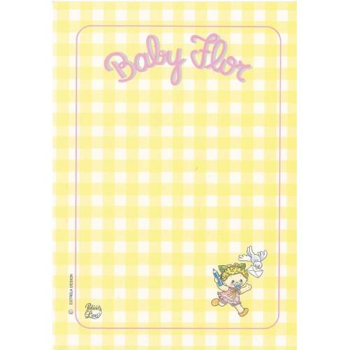 Papel de Carta AVULSO Coleção Palacio's Line Baby Flor B