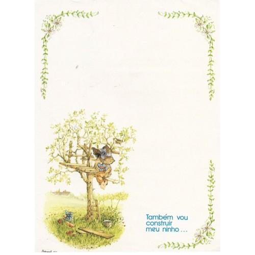 Papel de Carta Antigo Coleção Artesanal - 06572