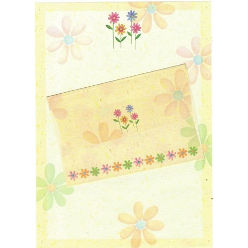 Conjunto de Papel de Carta Antigo Importado Shinn Jee Flower P180153-3