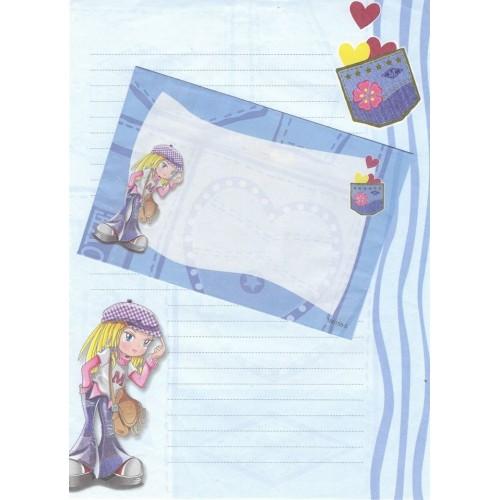 Conjunto de Papel de Carta Antigo Importado Shinn Jee P180158-5