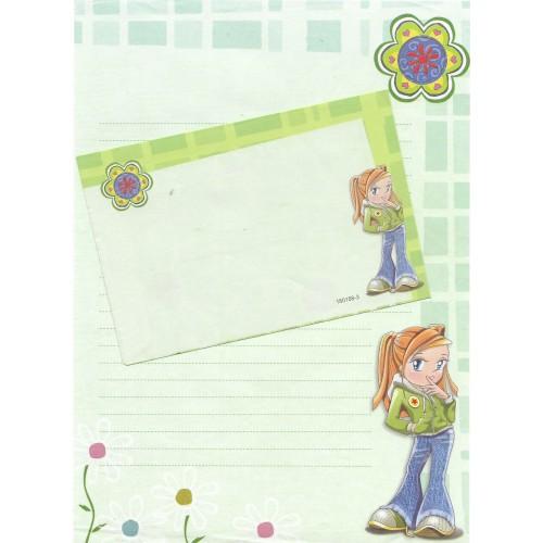 Conjunto de Papel de Carta Antigo Importado Shinn Jee P180158-3