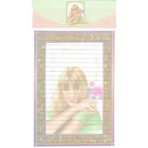 Conjunto de Papel de Carta Antigo Importado LP18048 C YANG