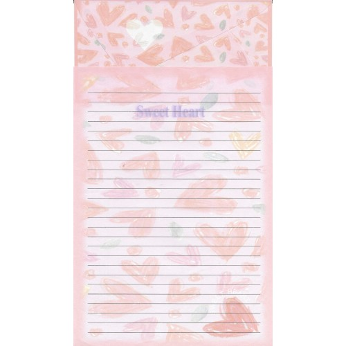 Conjunto de Papel de Carta Antigo Importado Sweet Heart P1042
