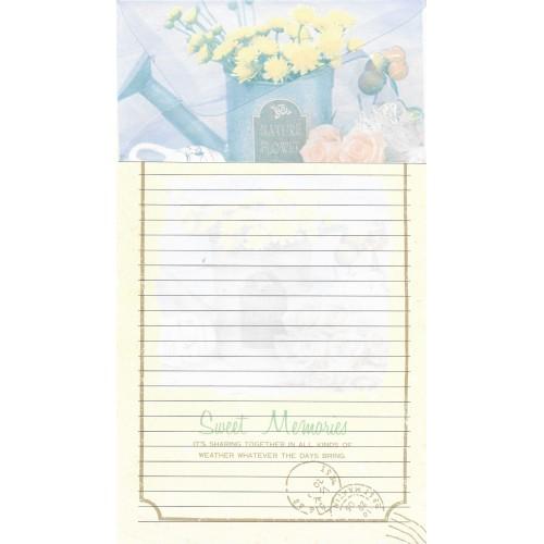 Conjunto de Papel de Carta Antigo Importado Cares 877