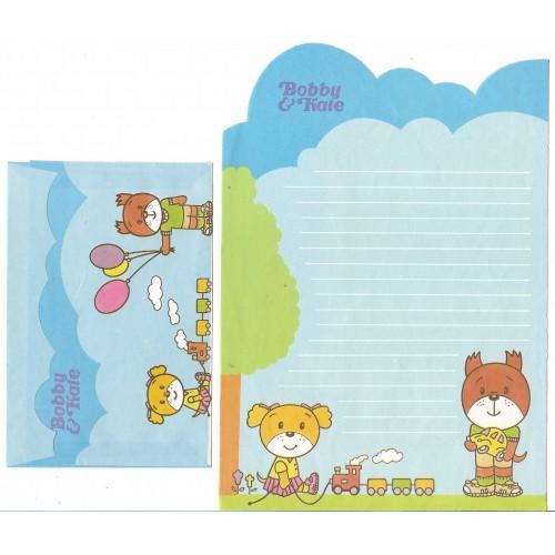 Conjunto de Papel de Carta ANTIGO Bobby & Kate - Brinquedos