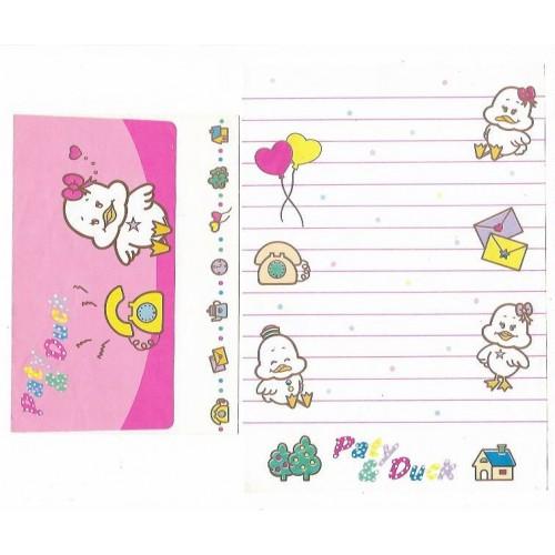 Conjunto de Papel de Carta Antigo Paty & Duck (CBR2)