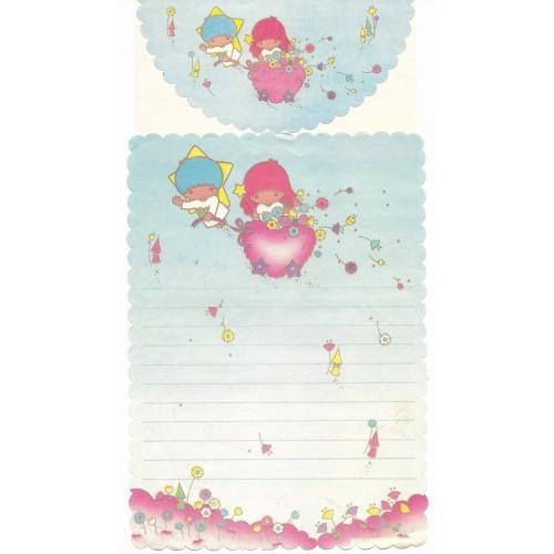 Conjunto de Papel de Carta Antigo Little Twin Stars 80